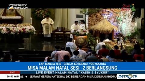 Lima Ribu Umat Ikuti Misa Natal Sesi 2 di Gereja Santo Antonius Kotabaru