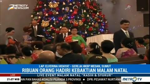 Ribuan Umat Ikuti Misa Natal di HKBP Medan