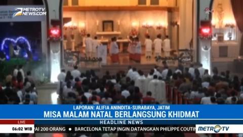 Misa Natal di Katedral Surabaya Digelar 4 Kali