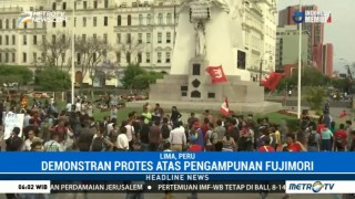 Warga Peru Protes atas Pengampunan Alberto Fujimori