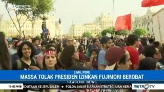 Massa Demo Tolak Presiden Peru Izinkan Fujimori Berobat