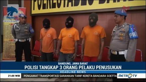 Polisi Tangkap Tiga Pelaku Penusukan Driver Online di Bandung