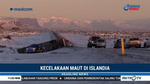 Satu Tewas dan 12 Terluka dalam Kecelakaan Bus Pariwisata di Islandia
