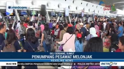 Penumpang Pesawat di Bandara Kualanamu Melonjak