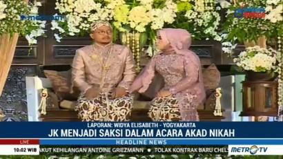 Sejumlah Menteri Kabinet Kerja Hadiri Resepsi Pernikahan Putri Mensesneg
