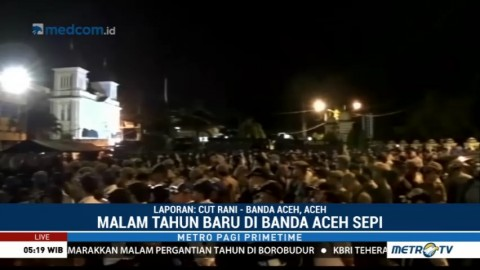 Perayaan Malam Tahun Baru di Aceh Sepi