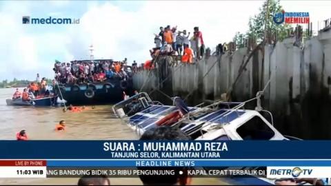Speedboat Tenggelam di Tanjung Selor, 8 Tewas dan 18 Lainnya Hilang