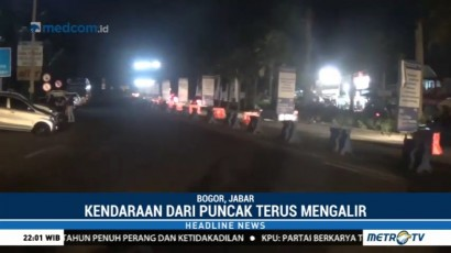 35 Ribu Kendaraan Kembali ke Jakarta Melalui Tol Ciawi