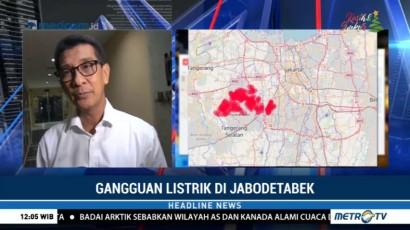 Listrik di Sebagian Jabodetabek Padam, PLN Upayakan Penormalan