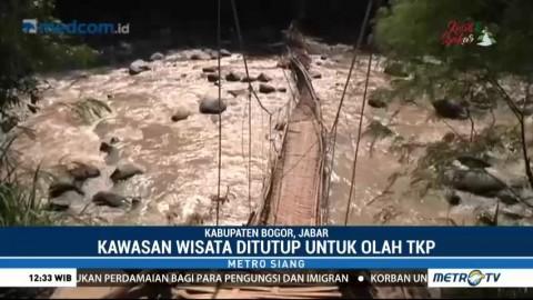 Polisi Olah TKP Jembatan Gantung Penangkaran Rusa Cariu
