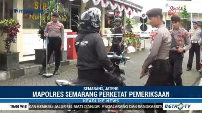 Penjagaan Markas Kepolisian di Semarang Diperketat