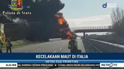 Kecelakaan Maut di Italia, Enam Orang Tewas Terpanggang