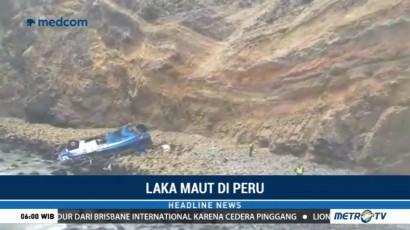 Bus Masuk Jurang di Peru, 30 Orang Tewas