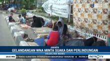 Puluhan WNA Hidup Menggelandang di Depan Rudenim Jakarta