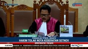 Hakim Tolak Nota Keberatan Setya Novanto