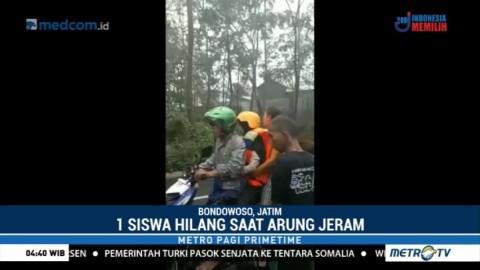 Seorang Siswa MTs Al-Ishlah Bondowoso Hilang saat Arung Jeram