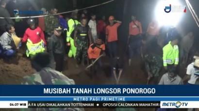 Ibu dan Anak Tewas Tertimbun Longsor di Ponorogo