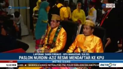 Ketum Golkar Dampingi Nurdin Halid-Aziz Daftar Pilgub di KPU Sulsel
