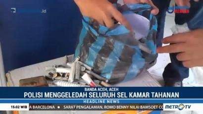 Polisi Temukan Ratusan Paket Ganja di Lapas Banda Aceh