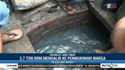 SPBU Bocor, 3,7 Ton Pertalite Mengalir ke Selokan