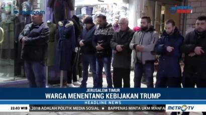 Aksi Protes Klaim Yerusalem oleh Donald Trump di Palestina Masih Berlangsung