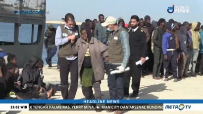 Angkatan laut Libya Selamatkan Seratusan Imigran Gelap