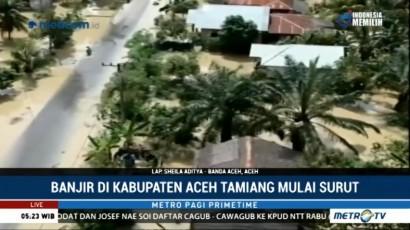 Banjir di Aceh Tamiang Mulai Surut