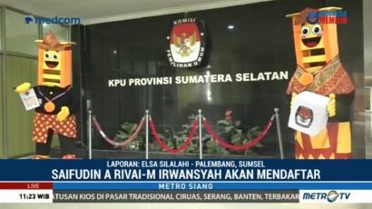 Dua Paslon Gubernur Sumsel Daftar ke KPU Siang Ini