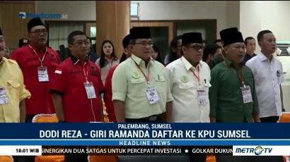 Dodi Reza-Giri Ramanda Daftarkan Diri ke KPUD Sumsel