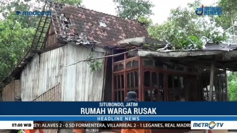 Rumah Warga di Situbondo Rusak Diterjang Angin Puting Beliung