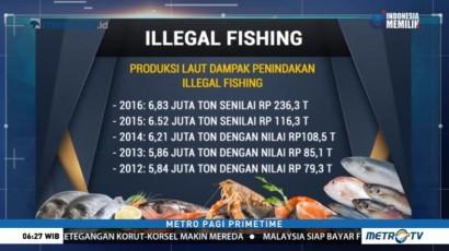 Dampak Penindakan <i>Illegal Fishing</i>, Produksi Laut Indonesia Kian Meningkat