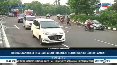Atasi Kemacetan, Surabaya Terapkan Sistem Kanalisasi Jalur Motor