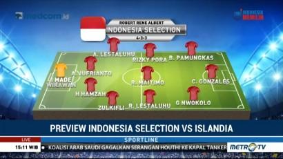 Susunan Formasi Indonesia Selection vs Islandia