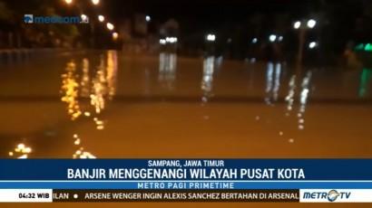 Sungai Kemuning Meluap, Sampang Terendam Banjir