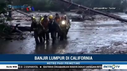 Regu Penyelamat Terus Mencari Korban Hilang Banjir Lumpur di California