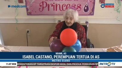 Perempuan Tertua di AS Rayakan Ulang Tahun ke-112