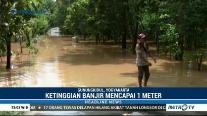 Banjir di Gunungkidul Lumpuhkan Aktivitas Warga