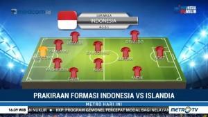 Prakiraan Formasi Indonesia vs Islandia