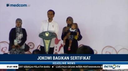 Kunjungi Tegal, Jokowi Bagikan 4.999 Sertifikat Tanah untuk Warga