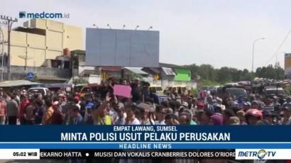 Unjuk Rasa Tuntut Usut Perusakan Kantor Lurah Tanjung Kupang