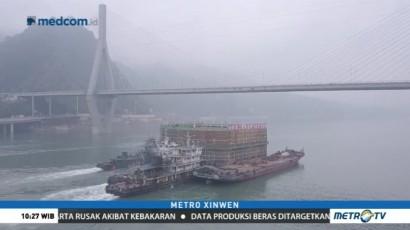 Jembatan Kabel Asimetris Pertama Dibangun di Tiongkok