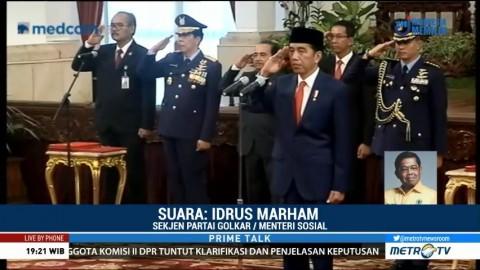 Dapat Kursi Menteri, Idrus Marham: Golkar Konsisten Dukung Jokowi