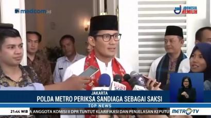Polda Metro Jadwalkan Ulang Pemeriksaan Sandiaga Uno