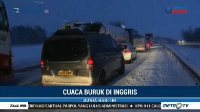 Cuaca Buruk di Inggris Sebabkan Kemacetan