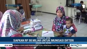 Jatim Gelontorkan Rp98 Miliar untuk Imunisasi Difteri