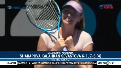 Sharapova Menangi Putaran Kedua Australia Terbuka