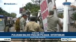 Satpol PP Sumedang Tertibkan Puluhan Baliho Pilkada