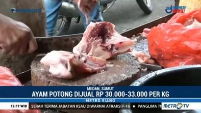 Harga Ayam Potong di Medan Naik 10 Persen