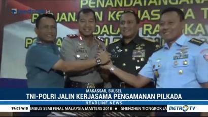 TNI-Polri Jalin Kerja Sama Amankan Pilkada Serentak Sulsel