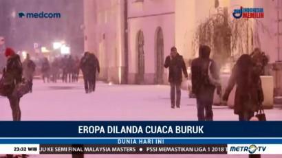Puluhan Bangunan di Polandia Rusak Akibat Badai Salju
